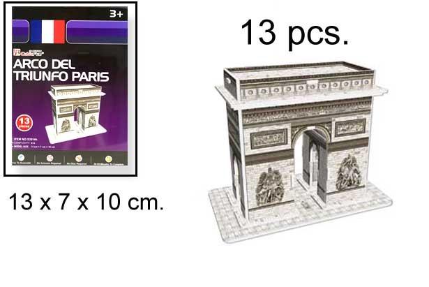 3D PUZZLE ARCO DEL TRIUNFO PARIS 13 PCS