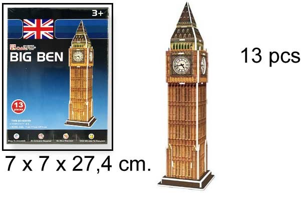 3D PUZZLE BIG BEN UK 13 PCS