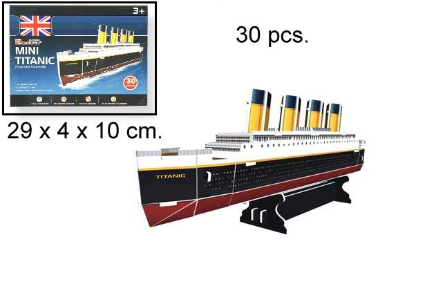 3D PUZZLE MINI TITANIC 30 PCS