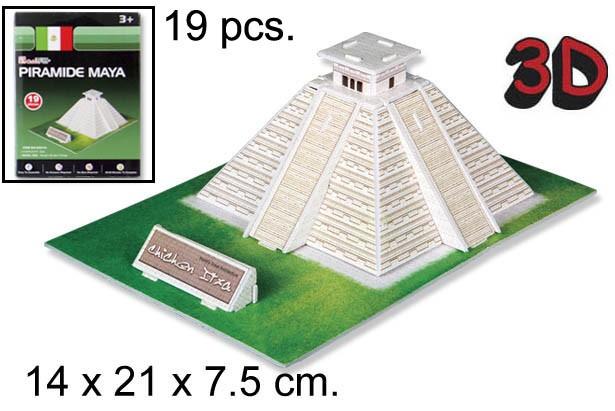 3D PUZZLE PIRAMIDE MAYA MEXICO
