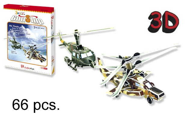 3D PUZZLE HELICOPTEROS