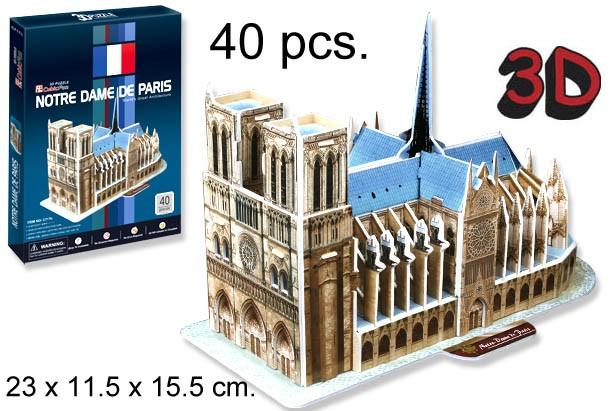 3D PUZZLE NOTRE DAME DE PARIS FRANCIA