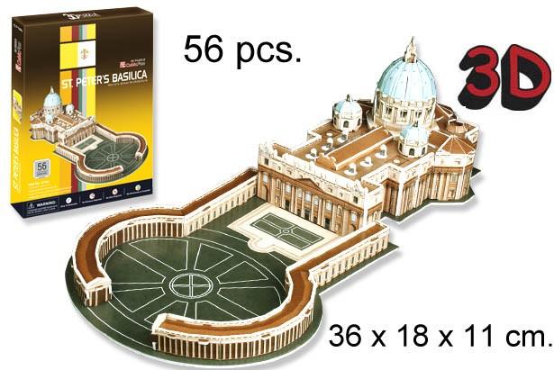 3D PUZZLE BASILICA DE SAN PEDRO VATICANO