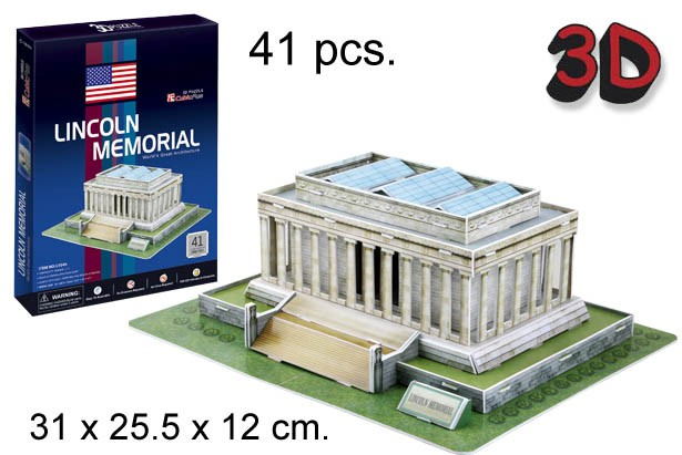 3D PUZZLE MONUMENTO A LINCOLN USA