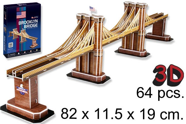 3D PUZZLE PUENTE DE BROOKLYN USA¬