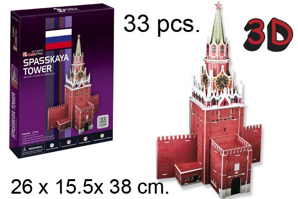 3D PUZZLE TORRE SPASSKAYA RUSIA