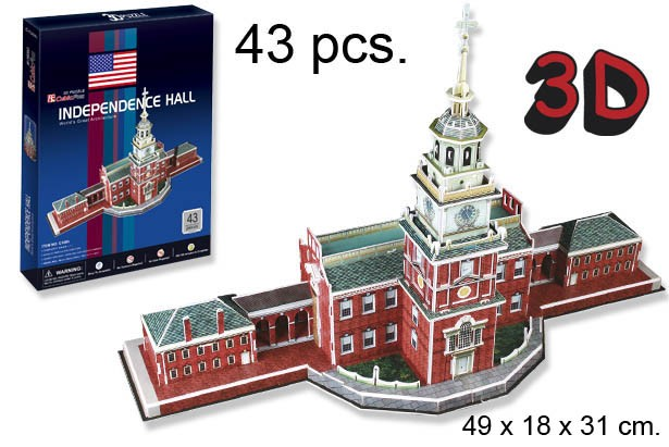 3D PUZZLE INDEPENDECE HALL USA