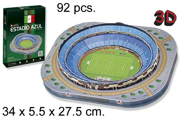 3D PUZZLE ESTADIO AZUL MEXICO