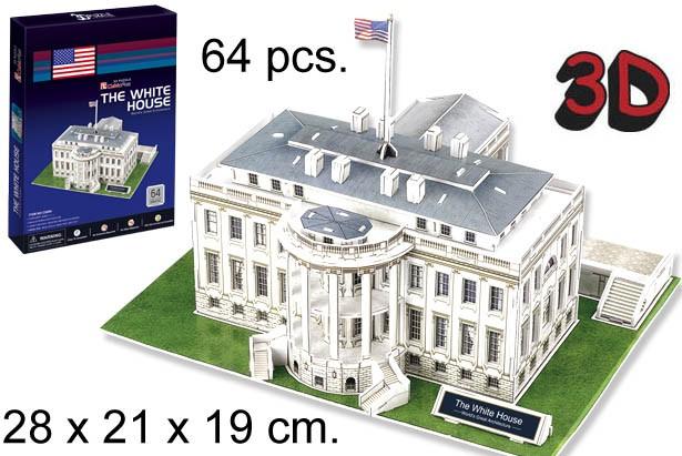 3D PUZZLE LA CASA BLANCA USA
