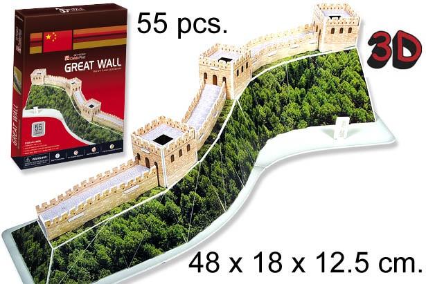 3D PUZZLE LA GRAN MURALLA CHINA