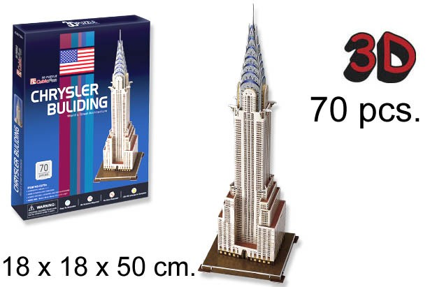3D PUZZLE EDIFICIO CHRYSLER USA