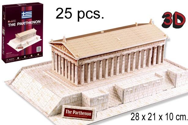 3D PUZZLE EL PARTENON GRECIA
