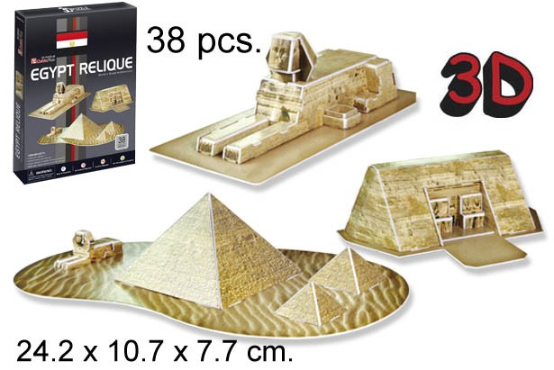 3D PUZZLE RELIQUIAS DE EGIPTO