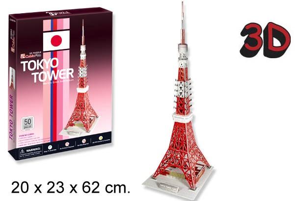 3D PUZZLE TORRE DE TOKYO JAPON