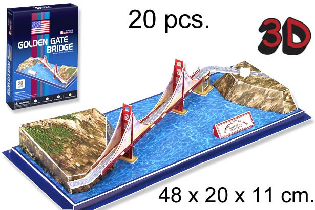 3D PUZZLE PUENTE GOLDEN GATEE USA