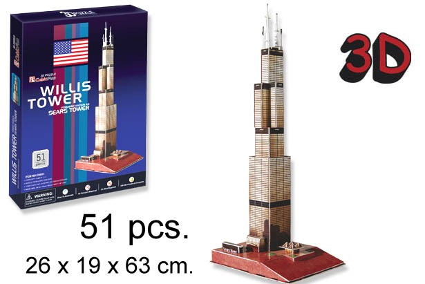 3D PUZZLE LA TORRE WILLIS USA