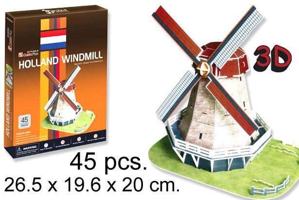 3D PUZZLE MOLINO DE VIENTO HOLANDES