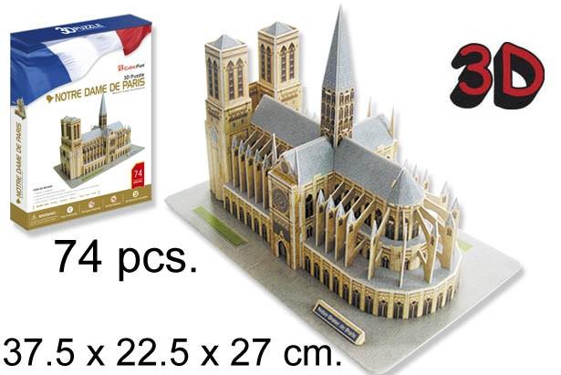 3D PUZZLE NOTRE DAME PARIS FRANCIA