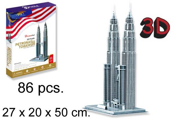 3D PUZZLE TORRES PETRONAS MALAYSIA¬