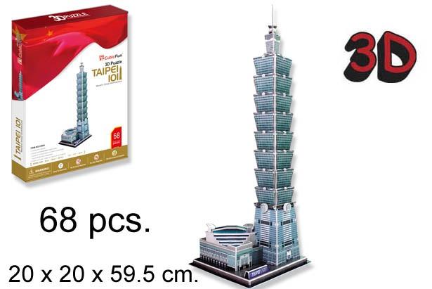 3D PUZZLE TAIPEI 101 CHINESE TAIPEI