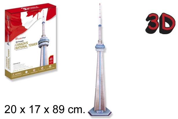 3D PUZZLE CN TOWER CANADA