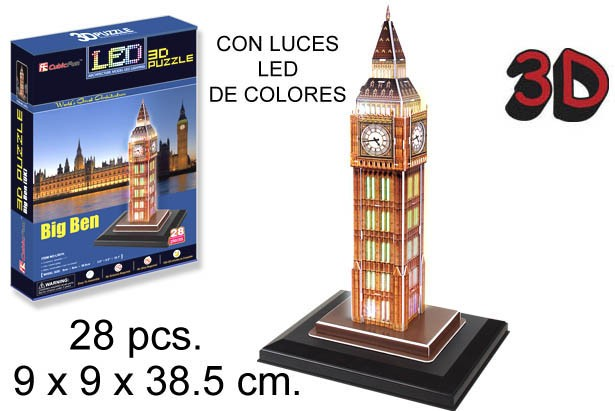 3D PUZZLE BIG BEN UK SIN PILAS