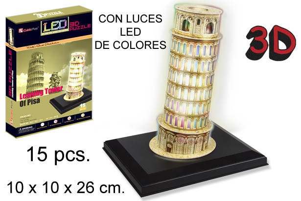 3D PUZZLE TORRE INCLINADA DE PISA SIN PI