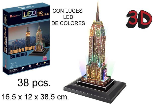 3D PUZZLE EDIFICIO EMPIRE STATE USA
