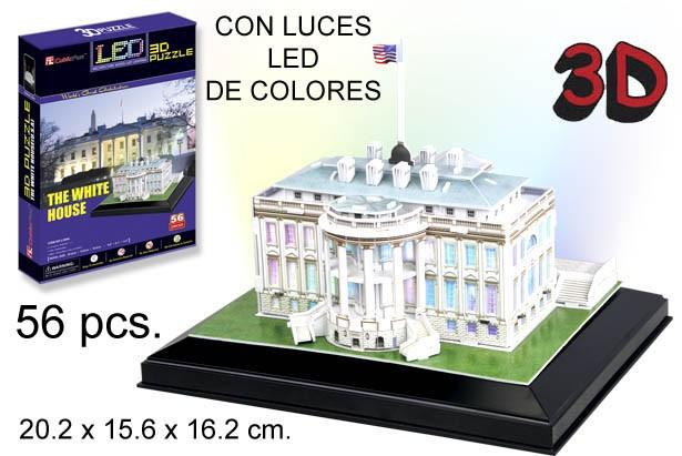 3D PUZZLE LA CASA BLANCA SIN PILAS