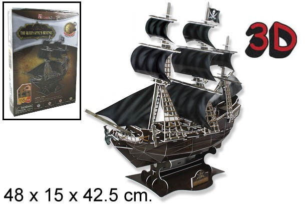 3D PUZZLE QUEEN ANNE REVENGE PIRATA