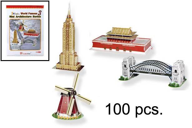 3D PUZZLE MINI ARQUITECTURA SERIES 3