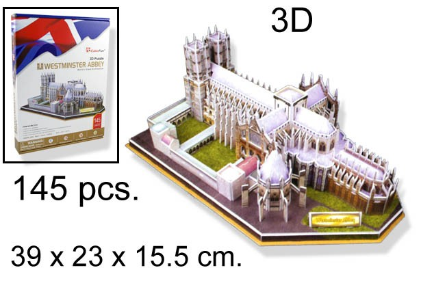 3D PUZZLE WESTMINSTER ABBEY UK