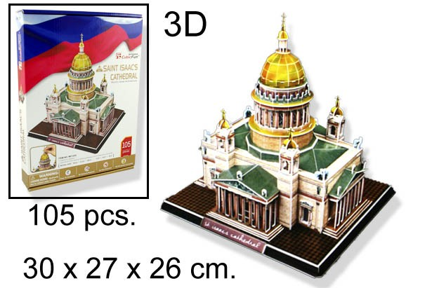 3D PUZZLE SAINT ISAACS CATHEDRAL RUSIA