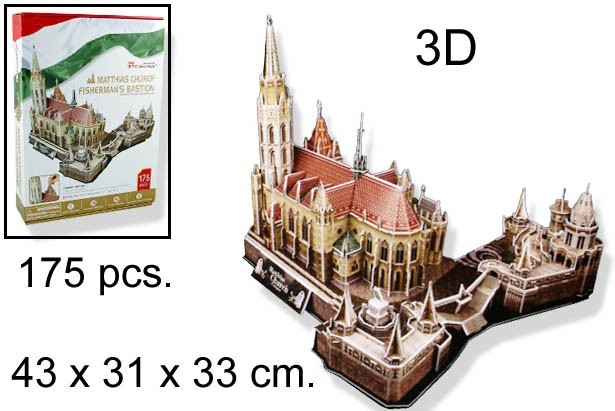 3D PUZZLE MATTHIAS CHURCH FISHERMANS BAS