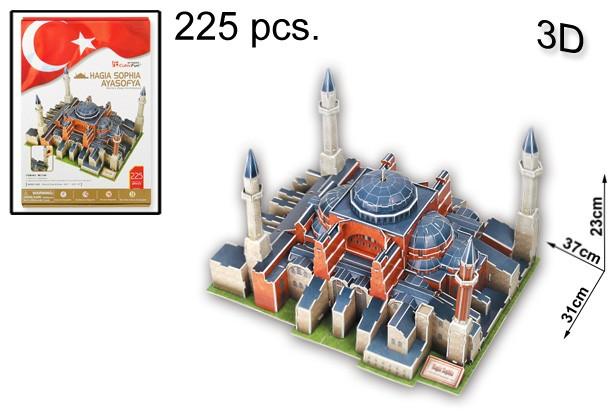 3D PUZZLE AYASOFYA 225 PCS