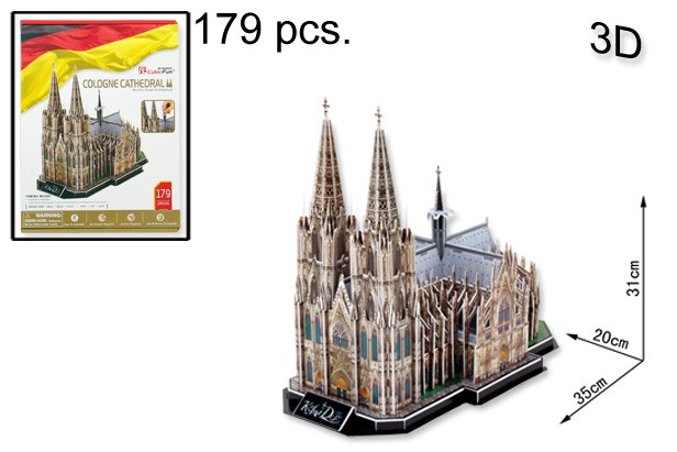 3D PUZZLE COLOGNE CATHEDRAL 179 PCS