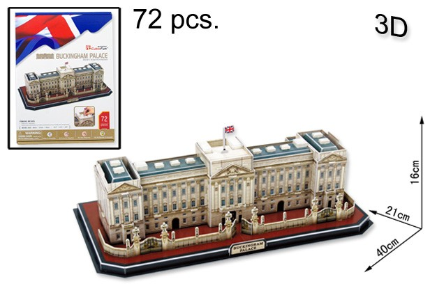 3D PUZZLE BUCKINGHAM PALACE 72 PCS