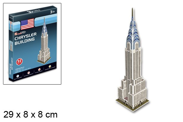 3D PUZZLE CHRYSLER BUILDING USA