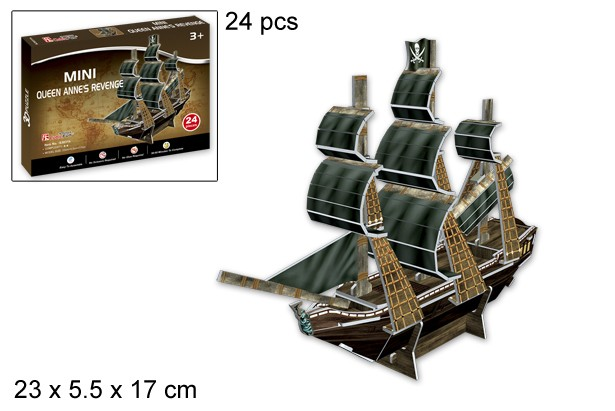 3D PUZZLE MINI QUEEN ANNES REVENGE