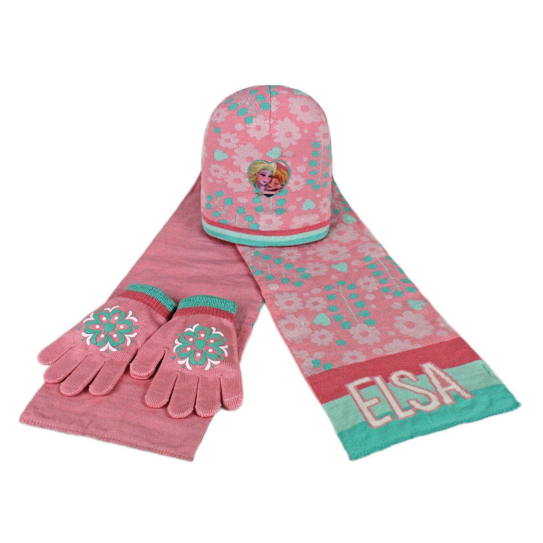 Set bufanda gorro guantes Frozen Disney Elsa 52-54