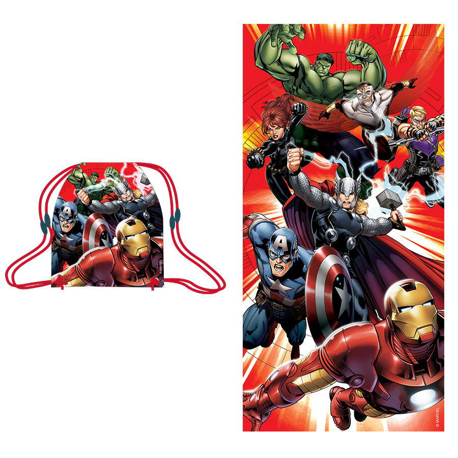 Set toalla saco Vengadores Avengers Marvel
