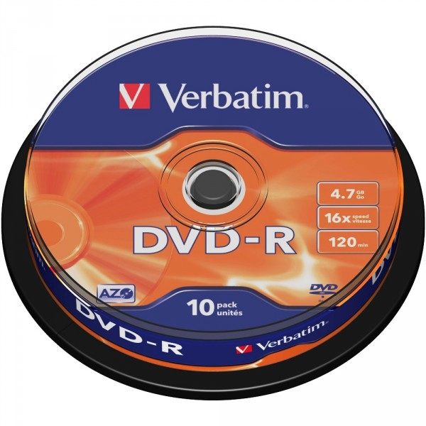 PACK 10 DVD - R 4.7 GB VERBATIM