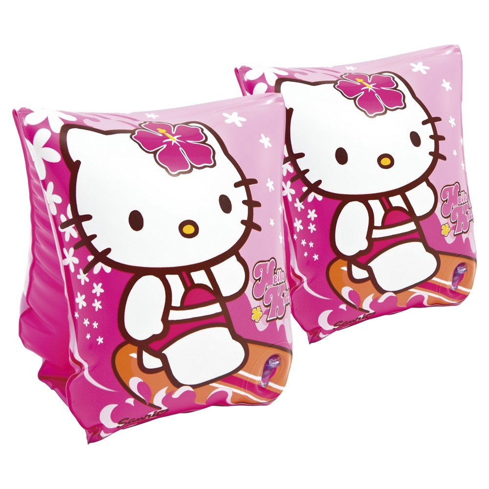 Manguitos hinchables, 23 x 15 cm, diseño hello kitty