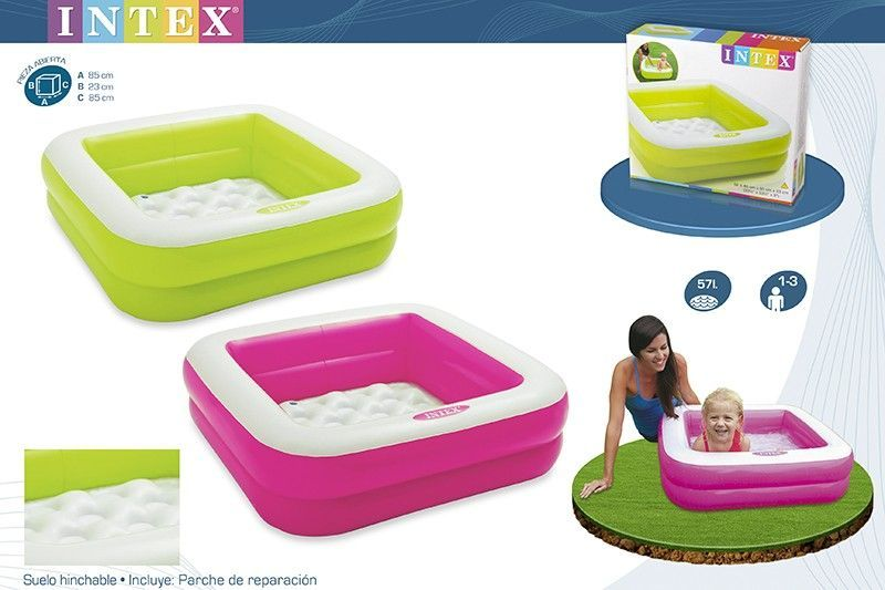Piscina bebe hinchable cuadrada 85x85x23cm for Piscina hinchable cuadrada