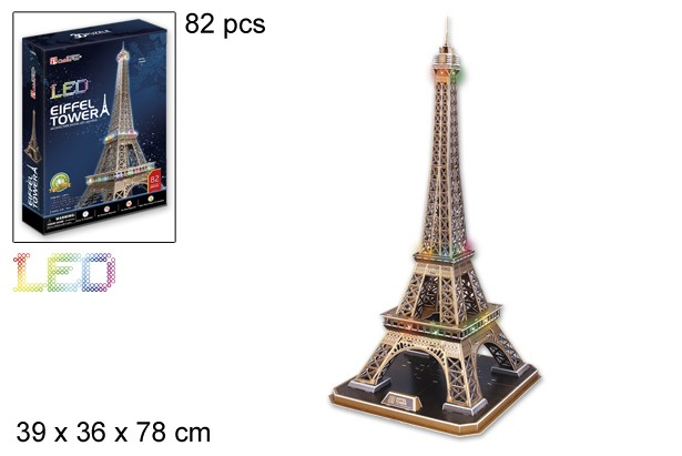 3d Puzzle Eiffel Tower And Led Light