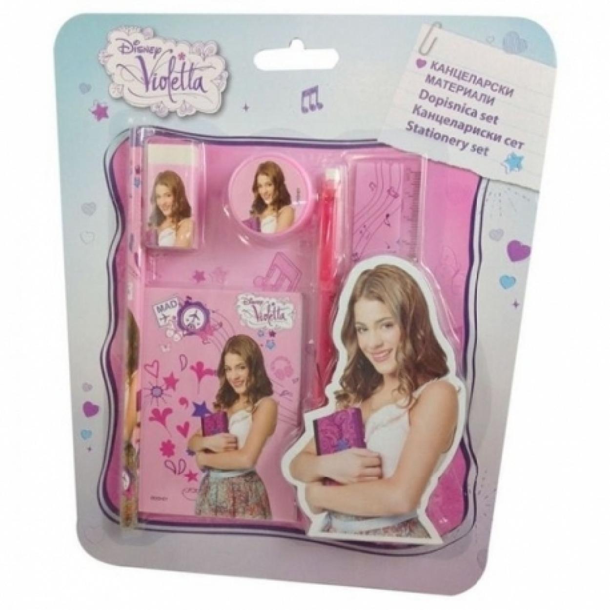 Set papeleria Violetta Disney 6pz