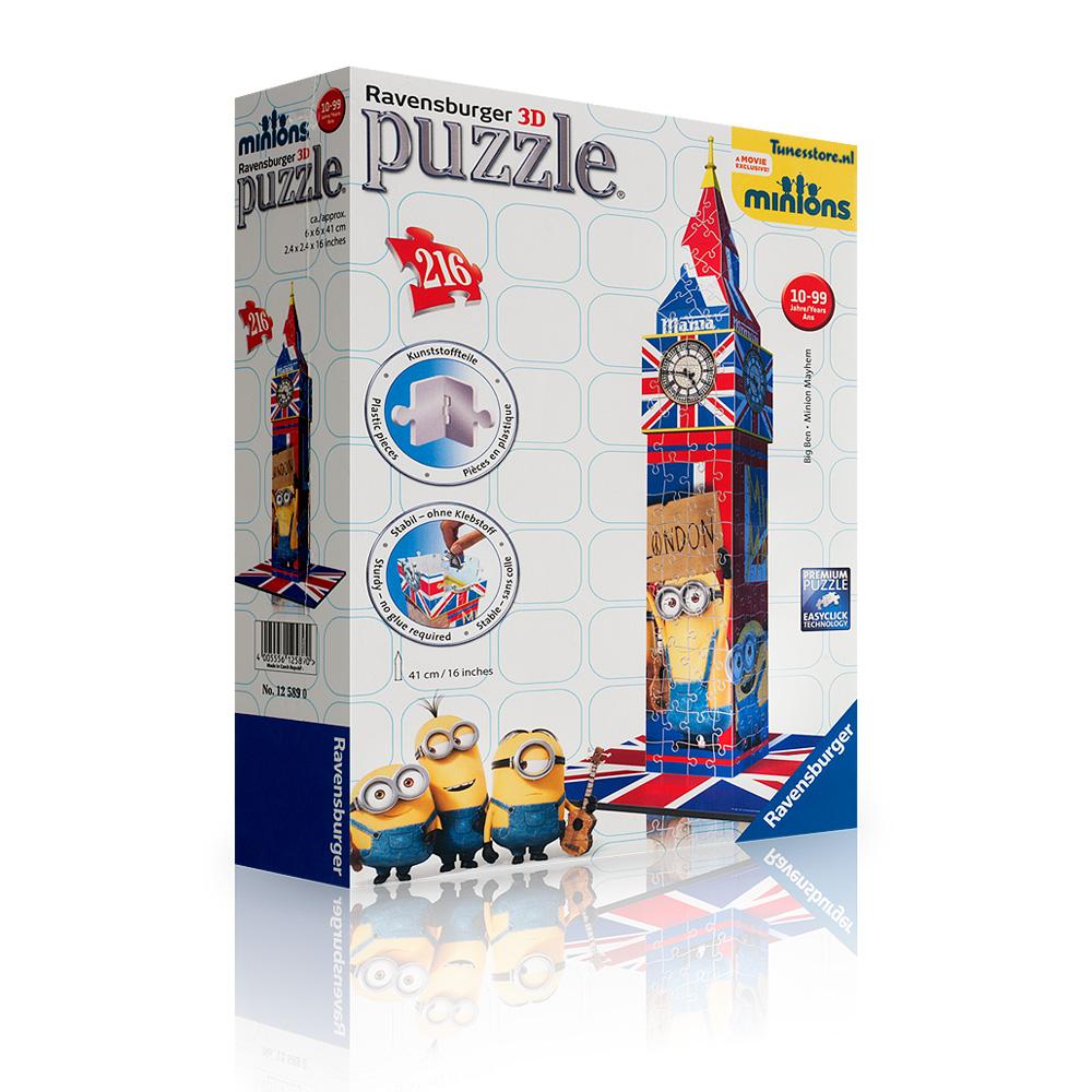 PUZZLE 3D MINIONS BIG BEN