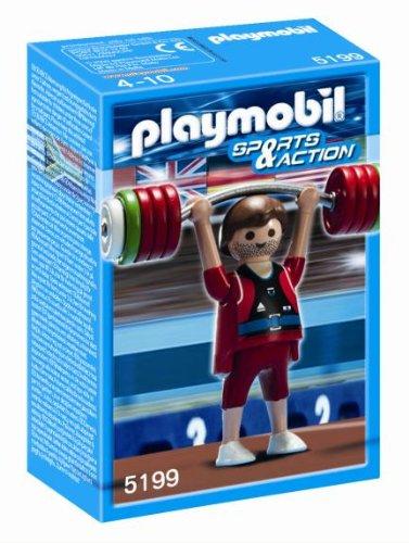 Deportista Olímpico Halterofilia de Playmobil