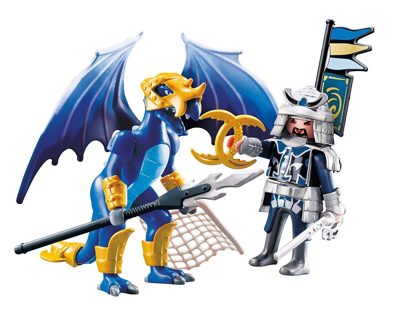 PLAYMOBIL Dragón Hielo con guerrero