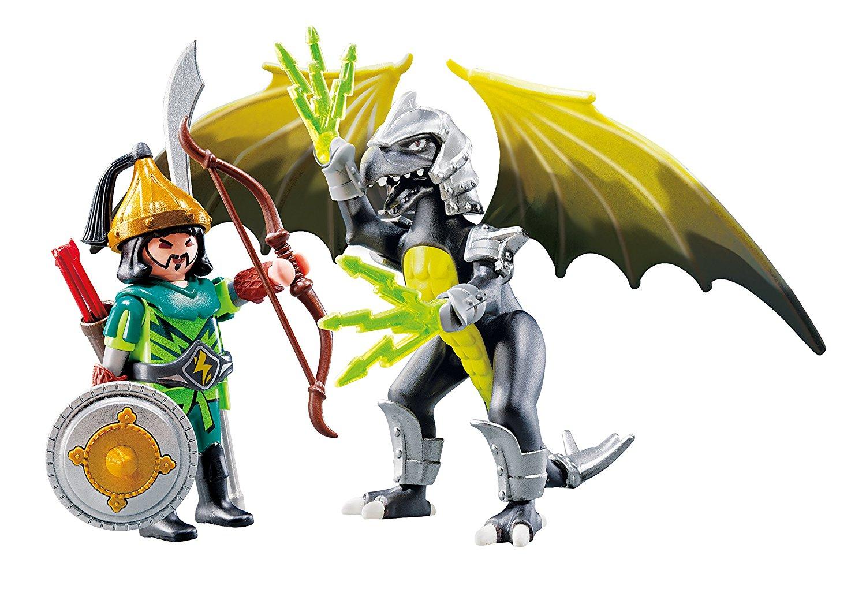 PLAYMOBIL Dragón Tormenta con guerrero